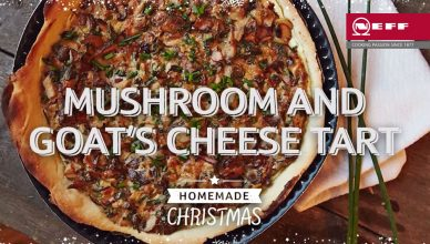 Mushroom and Goats' Cheese Tart
