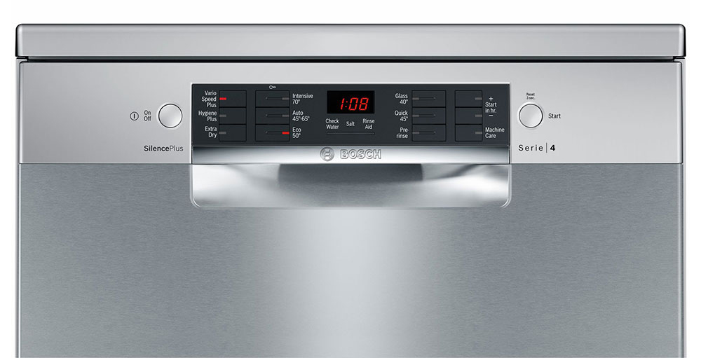 Bosch SMS46II00G Dishwasher Controls